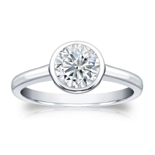 Certified 2.25ct Round White Diamond Engagement Wedding Ring In 14k White Gold Engagement & Wedding