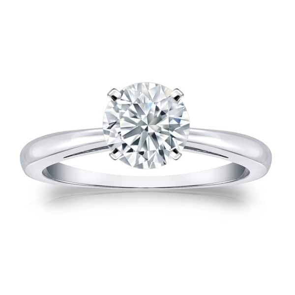 Shop Round 2ct TDW GIA Certified Solitaire Diamond Engagement Ring