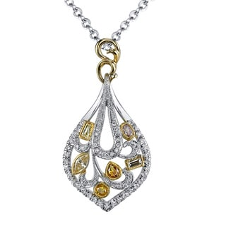 Lihara and Co. 18k White & Yellow gold 0.70ct TDW White and Fancy Color Diamond Pendant