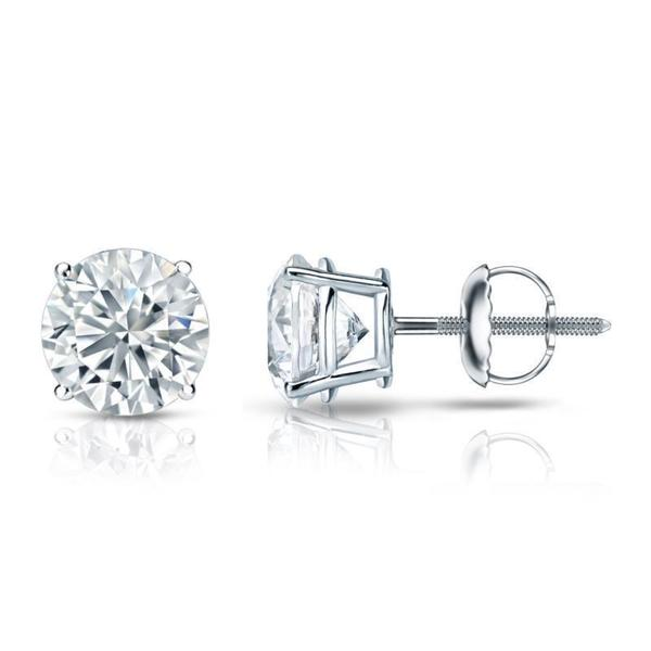 2dea471a60f Shop Platinum Round 3ct TDW Certified Diamond Stud Earrings by ...