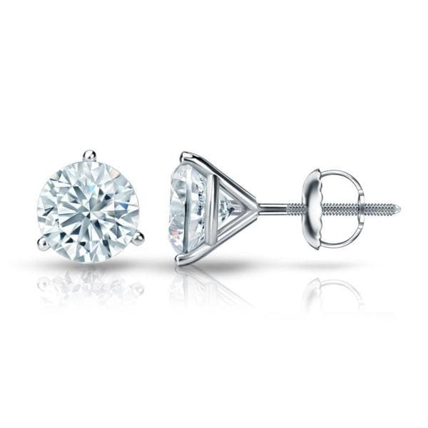 79a70ac83 Shop Auriya Platinum GIA Certified 4.70 ct. TDW 3-Prong Martini Round Diamond  Stud Earrings - Free Shipping Today - Overstock - 13943457