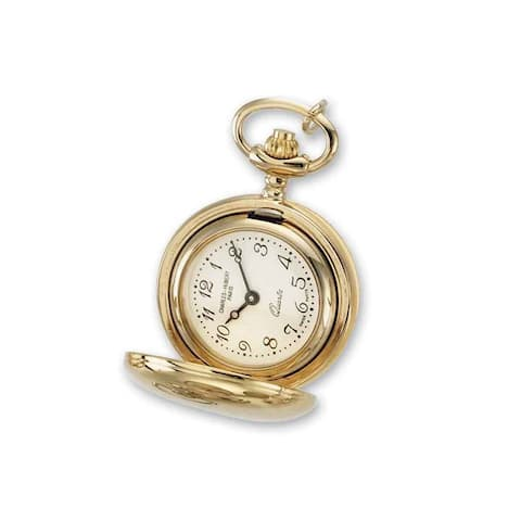 Ladies Charles Hubert Polished Gold Finish Brass Pendant Watch by Versil - Golden