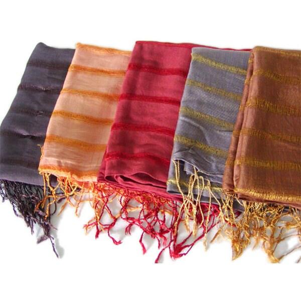 Hadong Striped Silk Scarf (Vietnam)