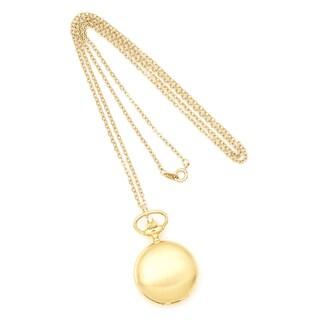Ladies Charles Hubert Satin Gold-finish Brass Pendant Watch
