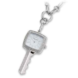 Versil Ladies Charles Hubert Stainless Steel White Dial 24mm Pendant Watch
