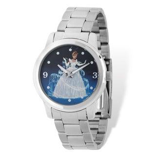 Disney Stainless Steel Women's Cinderella Design Silver-tone Watch