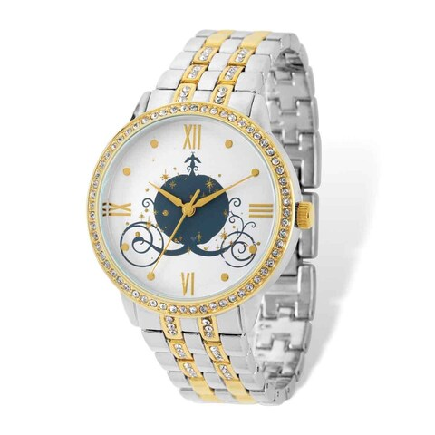 Disney Stainless Steel Women's Cinderella Coach Design Two-tone Watch