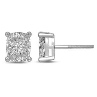 Unending Love 14K White Gold Fashion Stud Earring
