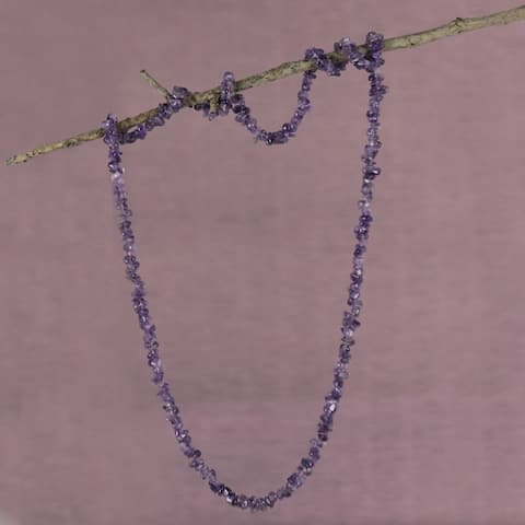 Handmade Amethyst 'Light of Wisdom' Necklace (Brazil)