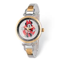 Disney Stainless Steel Women's Minnie Mouse Design Two-tone Watch