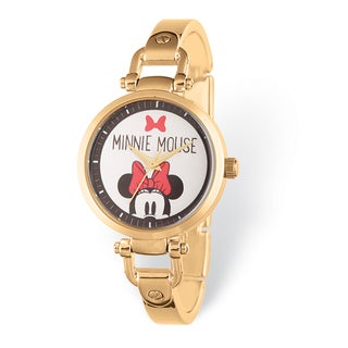 Disney Stainless Steel Women's Minnie Mouse Design Gold-tone Watch