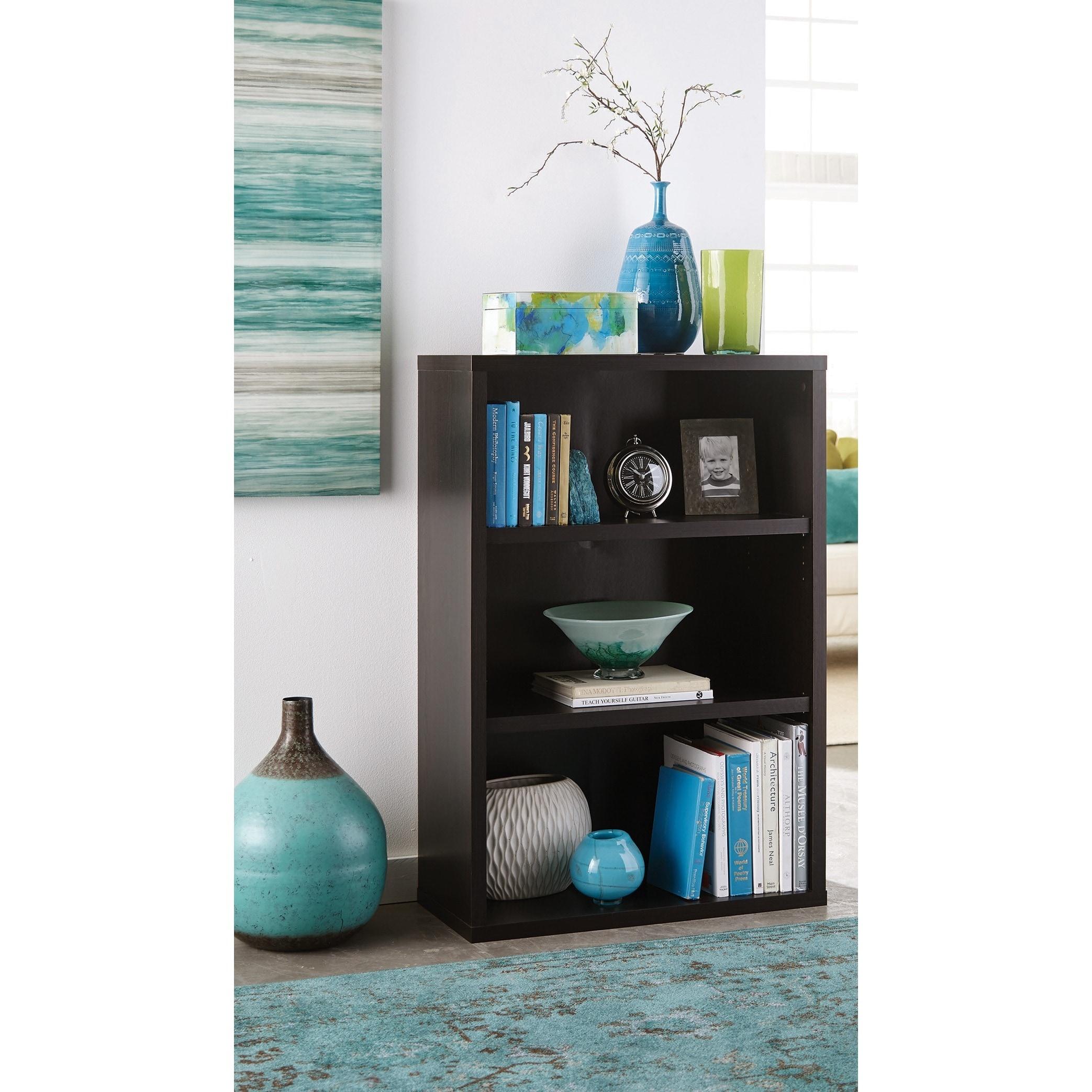 Closetmaid Premium Black Walnut 3-shelf Adjustable Bookca...