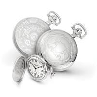 Charles Hubert Chrome-finish Unicorn Shield Pocket Watch