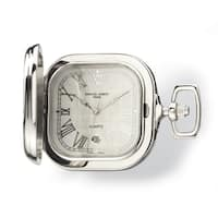 Charles Hubert Gold-plated Two-tone Chrome Square Pocket Watch