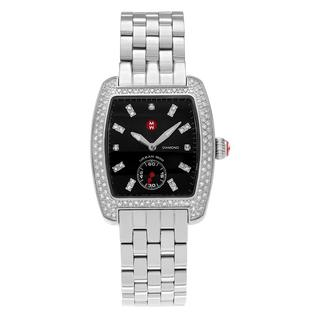 Michele Women's MWW02A000403 'Urban Mini' Stainless Steel 3/4 CT TDW Diamond Link Bracelet Watch
