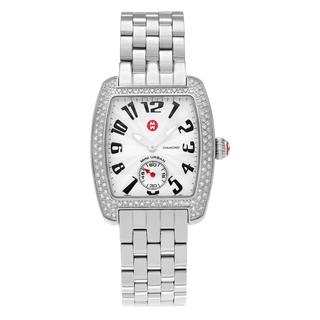 Michele Women's 'Mini Urban' MWW02A000124 5/8 CT TDW Diamond Link Bracelet Watch