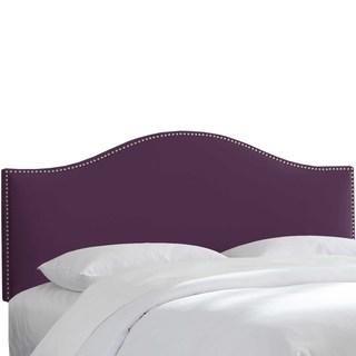 Skyline Furniture Custom Nailhead Trim Curved Velvet Headboard
