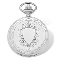 Versil Swingtime Chrome-finish Brass Dial w/Date 48mm Pocket Watch