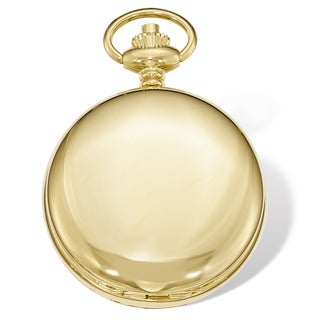 Swingtime Gold-finish Brass Mechanical Double Cover 48mm Pocket Watch