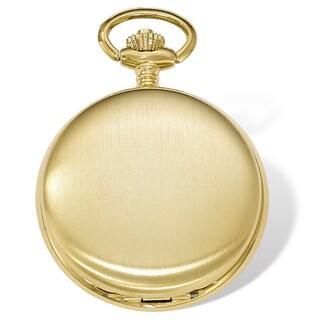Swingtime Gold-finish Brass Mechanical 42mm Pocket Watch