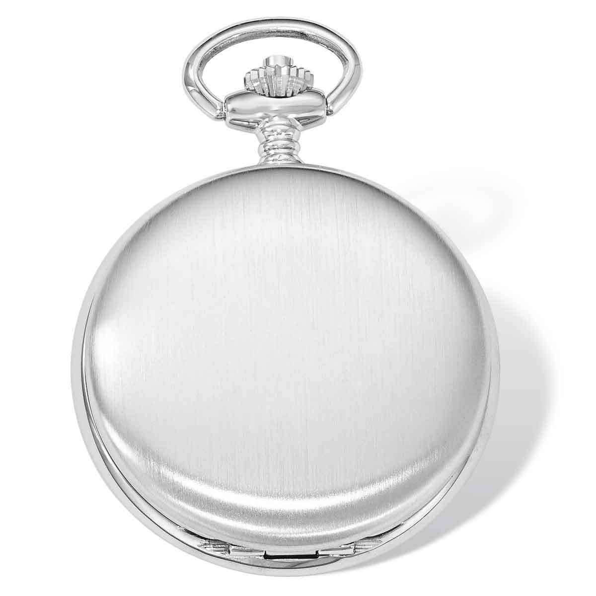 971688f1b Details about Versil Swingtime Chrome-finish Brass Mechanical 42mm Pocket  Watch
