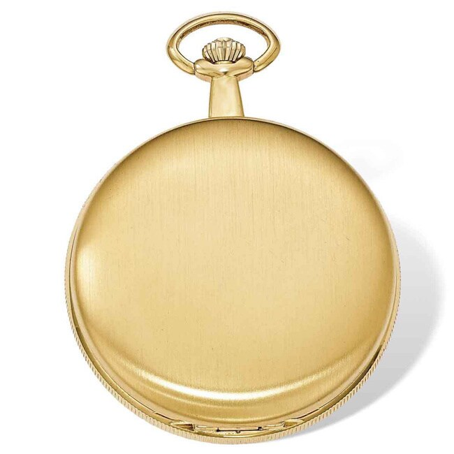Versil Swingtime Gold-finish Brass Quartz 48mm Pocket Wat...
