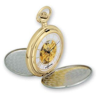 Swingtime Two-tone Brass Mechanical Double Cover Pocket Watch