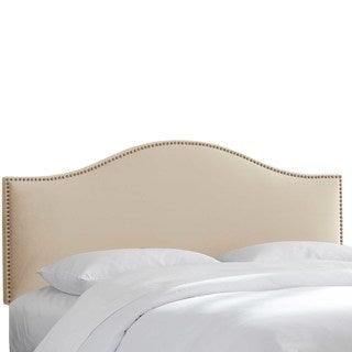 Custom Nailhead Trim Microsuede Upholstered Headboard- Skyline Furniture