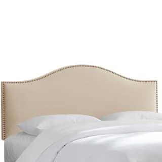 Custom Nailhead Trim Microsuede Upholstered Headboard- Skyline Furniture|https://ak1.ostkcdn.com/images/products/13950545/P20580337.jpg?impolicy=medium