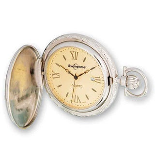 Swingtime Rose and Chrome-finish Quartz Pocket Watch