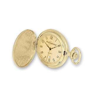Swingtime Gold-finish Brass Quartz Pocket Watch