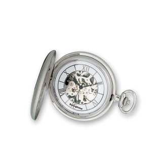 Swingtime Chrome-finish Brass Mechanical Pocket Watch