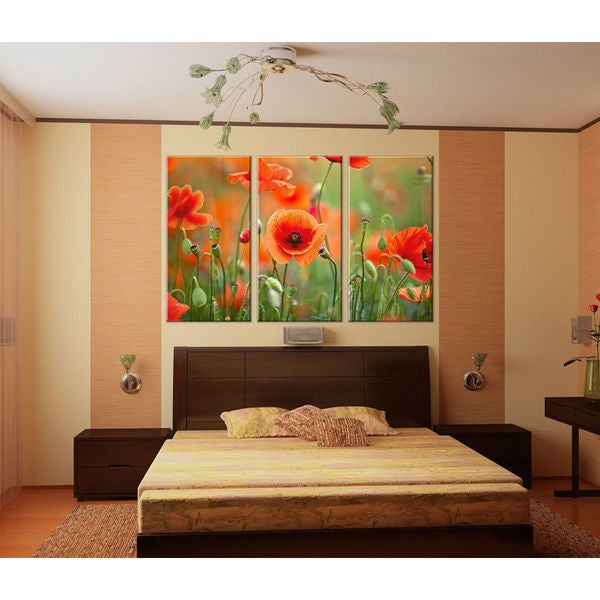 Full color decal Modular image flowers sticker, colored wall art decal Sticker Decall size 48x65