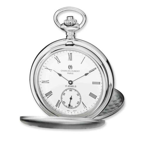 Charles Hubert Stainless Steel White Dial Pocket Watch by Versil