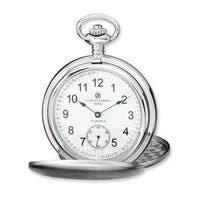 Charles Hubert Stainless Steel White Dial Pocket Watch