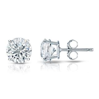 Auriya Platinum GIA Certified 1.00-Carat TDW Round Diamond Stud Earrings