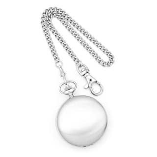 Charles Hubert Stainless Steel Double Cover Satin Pocket Watch