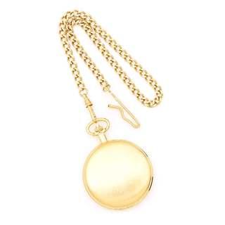 Charles Hubert Satin Gold Finish Brass Pocket Watch