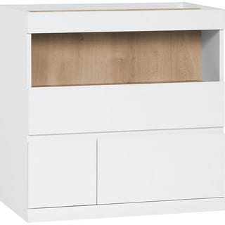 Voelkel Muto Collection,Two Drawer Chest with Open Shelf