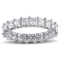 Miadora Platinum 3 1/6ct TDW Diamond Eternity Ring