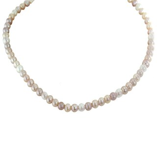 One-of-a-kind Michael Valitutti Palladium Silver Freshwater Pink and White Pearl Toggle Necklace