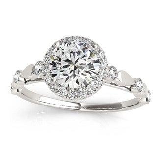 Transcendent Brilliance 14k White, Rose Or Yellow Gold 7/8ct TDW White Diamond Antique Style Halo Engagement Ring (F-G, VS1-VS2)