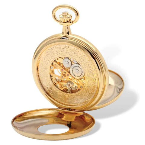 Charles Hubert Gold Finish White Dial Pocket Watch by Versil