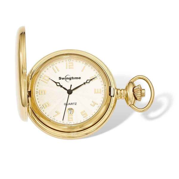 32ff71c5c Shop Swingtime IP-plated Stainless Steel Quartz 48mm Pocket Watch - Free  Shipping Today - Overstock.com - 13950981