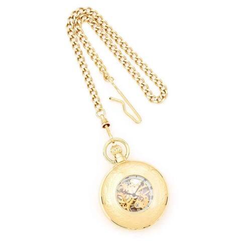 Charles Hubert 17 Jewel Movement Gold Finish 47mm Case Pocket Watch - Yellow