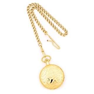 Charles Hubert Gold Finish Brass White Dial Pocket Watch