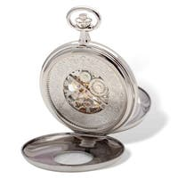 Charles Hubert Chrome Finish White Dial Pocket Watch