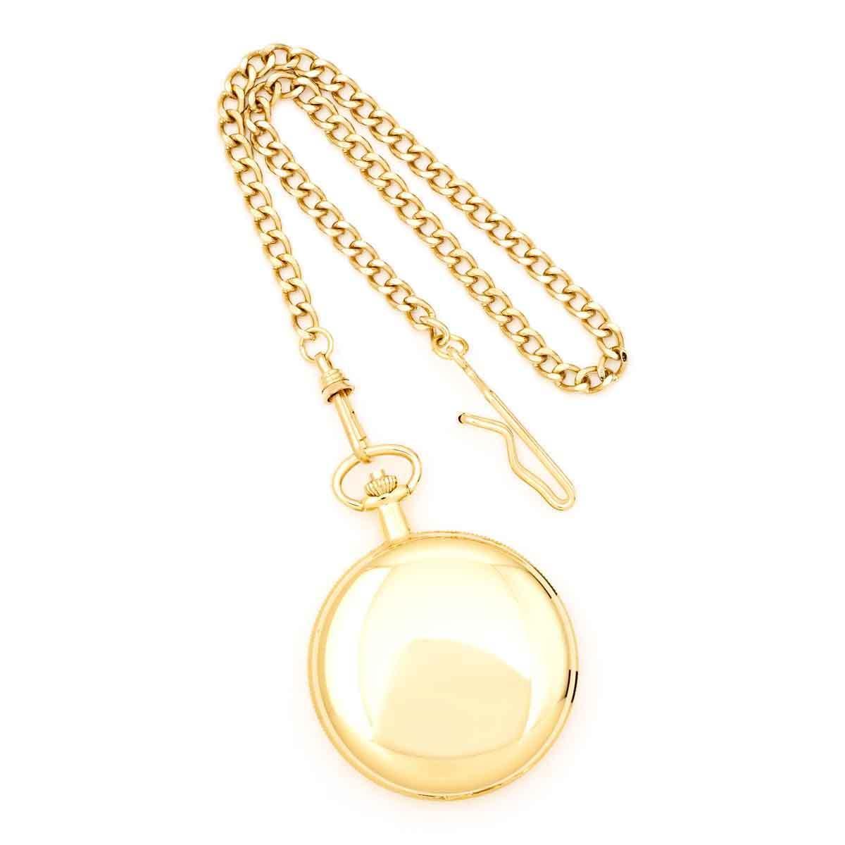 Charles Hubert 14k Gold Finish White Dial Pocket Watch (P...