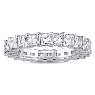 Miadora Signature Collection 18k White Gold 2 3/4ct TDW Asscher-Cut Diamond Eternity Ring
