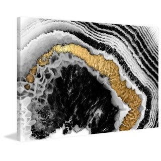 Marmont Hill - 'The Eye of Gold' Painting Print on Wrapped Canvas - Black